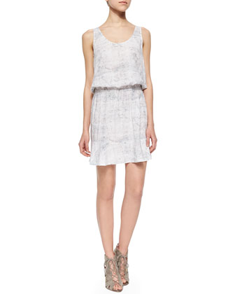 Farrell Printed Blouson Sleeveless Dress