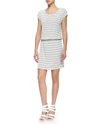 Cercei B Striped Slub Dress