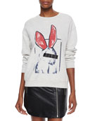 Classic Sweatshirt with Bunny Graphic