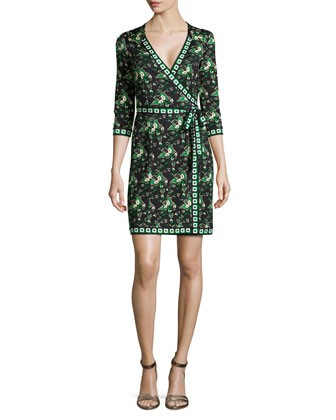 Tallulah Floral-Print Silk Wrap Dress