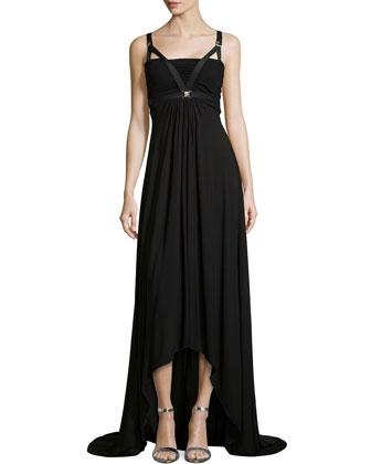 Bandeau Harness High-Low Maxi Dress