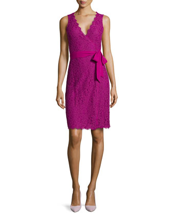 Juliana Sleeveless Lace Wrap Dress