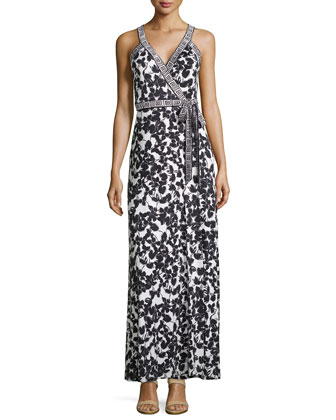 Samson Maxi Wrap Dress in Silk Jersey