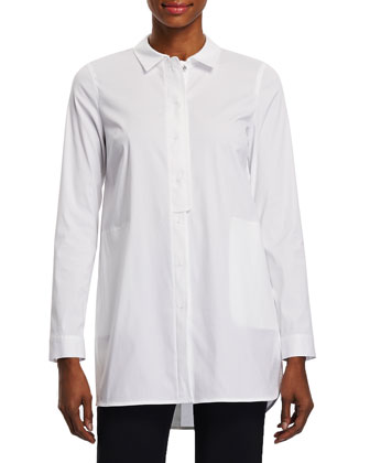 Suzette Long Blouse W/ Half Placket