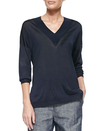 Yvette Knit V-Neck Top