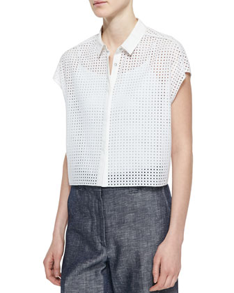 Lakewood Short-Sleeve Perforated Shirt
