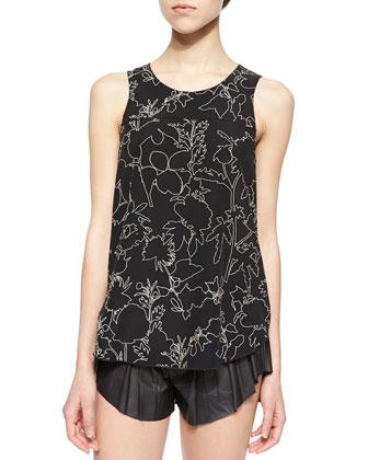 Patricia Floral-Print Silk Top