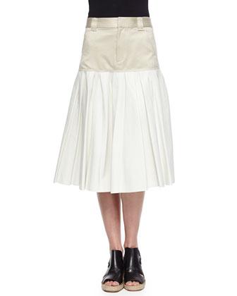 Elsa Two-Tone Crop Top & Brooke Two-Tone Pleated Skirt