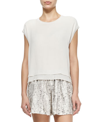 Daria Loose Layered-Hem Tee