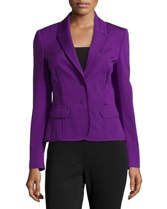 Two-Button Short Jacket, Iris