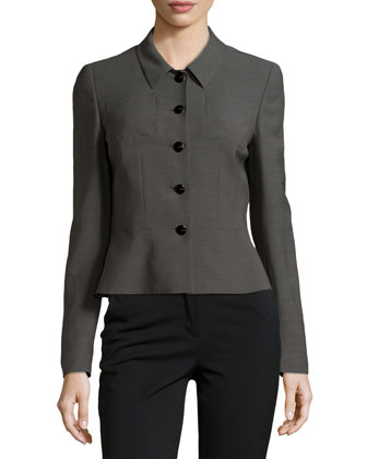 Wool-Blend Jacket with Peplum