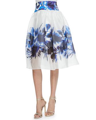 Floral Mirage Mesh Skirt