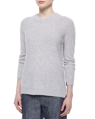 Cashmere Valentina Ribbed Sweater