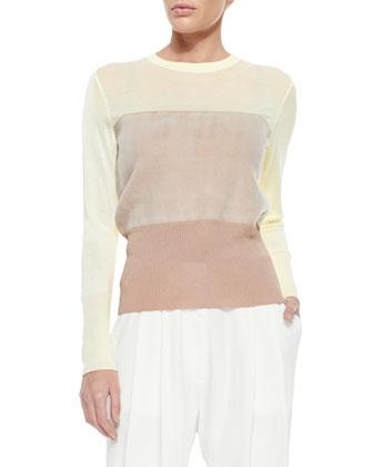 Marissa Mixed-Media Sweater