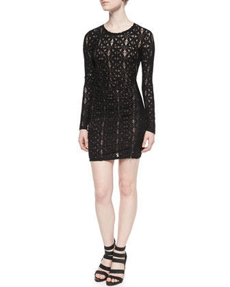 Alesandra Lace Zip-Hem Dress