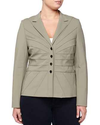 Four-Button Stretch Twill Jacket