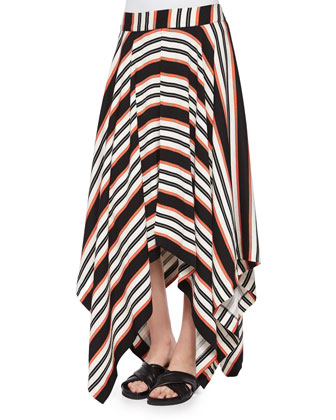 Ride to Me Striped Handkerchief Skirt