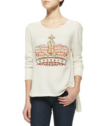 Enigma Beaded Crown Knit Top