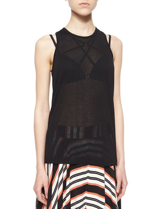 Cornucopia Racerback Top, Black