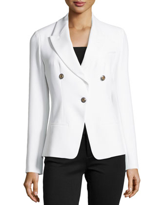 Slim-Fit One-Button Jacket
