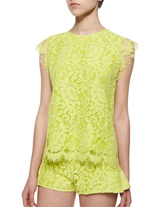 Pascal Open-Back Lace Top
