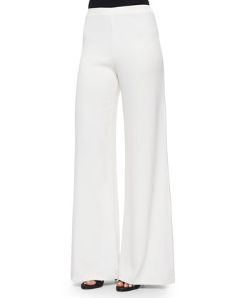 Cooper Wide-Leg Crepe Pants