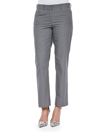 Cropped Straight-Leg Pants, Rock