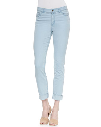 Curvy Double-Cuff Cropped Jeans