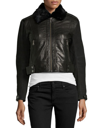 Naomi Leather Bomber Jacket