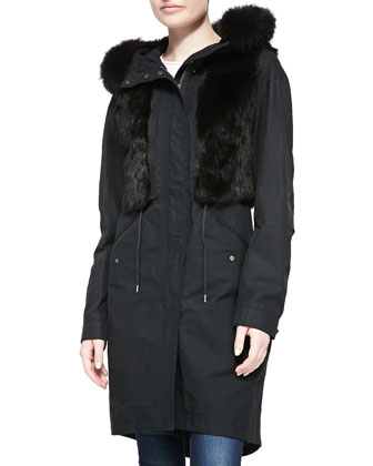 Jade Utility Jacket w/ Fur Trim