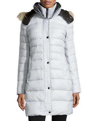 Gayle Puffer Coat W/ Fur-Trimmed Hood