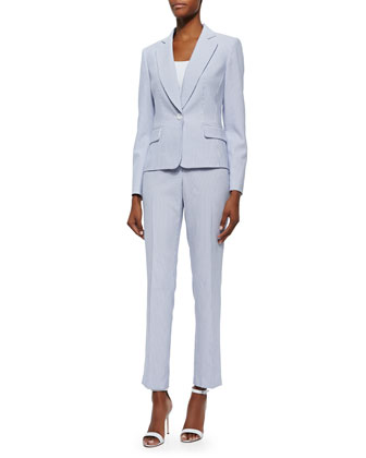 Striped Two-Piece Pant Suit
