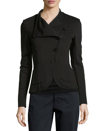 Asymmetric Button-Front Jacket