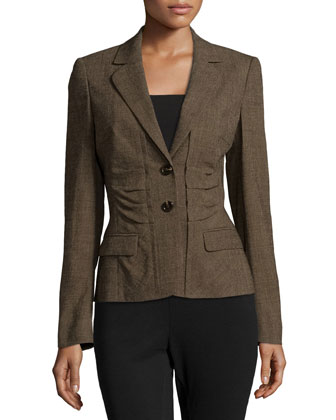 Two-Button Wool-Blend Jacket