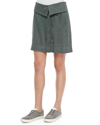 Folded-Waist Relaxed Skirt