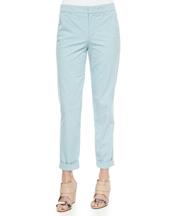Lightweight Twill Boyfriend Trousers