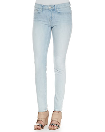 Short-Sleeve Contrast-Trim Blouse & Dylan Skinny Denim Ankle Jeans