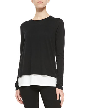 Two-Tone Layered Tee