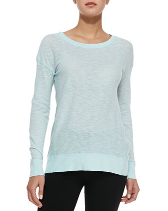 Long-Sleeve Slub Knit Tee