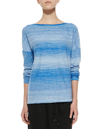 Space-Dye Boat-Neck Top