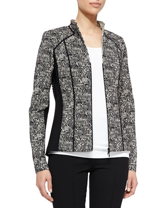 Amia Tweed Jacket W/ Ponte Panels