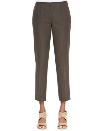 Bleecker Slim Cropped Pants, Granite