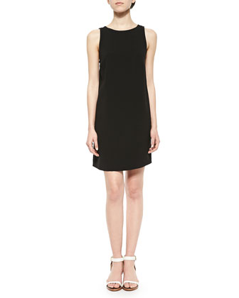 Backless Stretch Sleeveless Dress, Noir