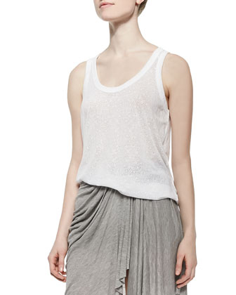 Lace-Pattern Soft Tank Top