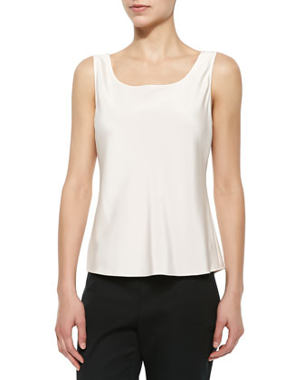 Sleeveless Bias Tank W/ Piping, Dawn