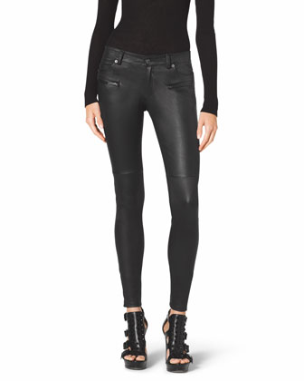 Jet Set Leather Skinny Pants