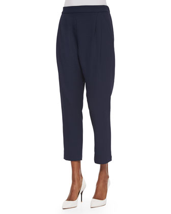 Pleated Track-Style Trousers