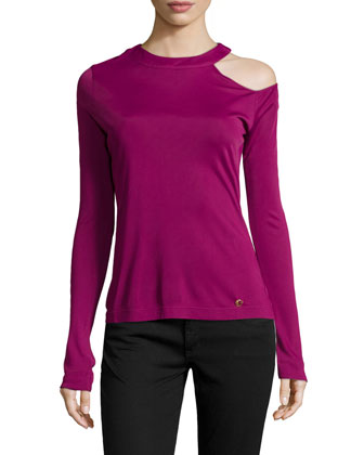 Long-Sleeve Fitted Jersey Top