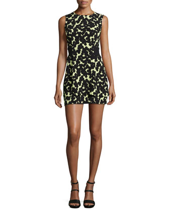Frankie Printed Sleeveless Silk Dress