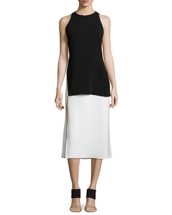 Mer Two-Tone Layered Dress